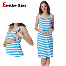 Emotion Moms Sleeveless Maternity Clothes Maternity Breastfeeding Dresses pregnancy clothes for Pregnant Women Nursing dress