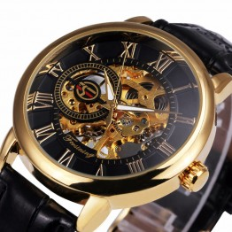 Forsining Skeleton Brand Luxury Men Relogio Male Men Mechanical Watch luxury men gold watch montre homme