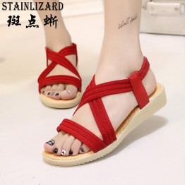 15 Colors Flats Women Sandals Fashion Casual Beach Girls Summer Sandals Bohemian Women Shoes Women Summer Shoes Concise BT585