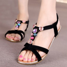 2016 New Summer Style Women shoes sandals comfort sandals Ladies Classic Rhinestone fashion non-slip high quality flat sandals