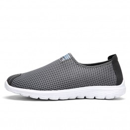 Big Size Men Shoes Fashion Breathable Air Mesh Casual Shoes Non-Slip Comfortable Daily Shoes Slip On Men Shoes Male Flats