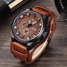 Curren Men's Casual Sport Brand Luxury Mens Watches Top Brand Luxury Quartz Watch Leather Strap Military Watch Wrist Male Clock