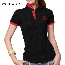 2017 Fashion Solid Cotton T Shirt Women V-neck Slim T-shirt Women Brand Black Red Punk Tops Tee Shirt Femme Plus Size 3036