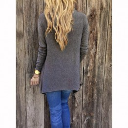 2017 Fashion Women Long Sleeve Tassel Shirt Loose Casual Tops Coat