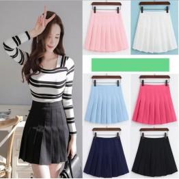 2017 summer new AA high waist Slim short skirt college students wind code skirt