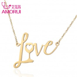Rose Gold/Gold/Silver Love Wine Heart Pendant Collier Femme Collares Choker  Necklace Women Jewelry Chokers Joyas