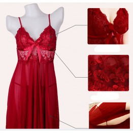 2016 hot sale Sexy women Transparent  lace Sleep Tops Uniform Sexy lingerie