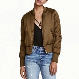 Bomber Jacket Women Basic Coats 2017 Timechee Zipper Short Slim Solid Color Baseball Jackets Jaqueta Feminina LYY0048